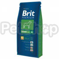 Brit Premium Senior XL ( бри премиум полнорационный корм для стареющих собак  (6 лет и старше) гигантских пород  (45–90 кг))