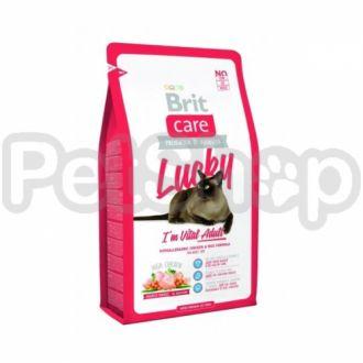 Brit Care Cat Lucky I am Vital Adult (брит кэа гипоаллергенный корм с курицей и рисом для взрослых кошек)