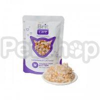Brit Care Chicken & Cheese Kitten Pouch (Брит кэа - консерва с курицей и сыром для котят)