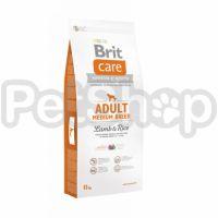 Brit Care Adult Medium Breed Lamb & Rice (брит кэа гипоаллергенный корм с ягненком и рисом для взрослых собак средних пород  (10 – 25 кг))