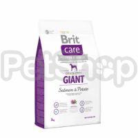 Brit Care Grain-free Giant Salmon & Potato (брит кэа беззерновой корм с лососем и картофелем для взрослых собак гигантских пород  (более 45 кг))