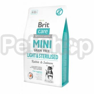 Brit  Care GF Mini Light&Sterilised (для собак малых пород) контроль веса