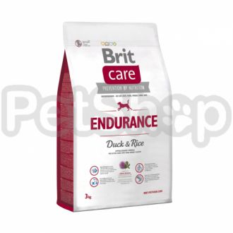 Brit Care Endurance (брит кэа гипоаллергенный корм с уткой и рисом для активных собак, расходующих много энергии)