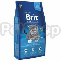 Brit Premium Kitten Chicken (брит премиум сухой корм с курицей для котят всех пород)