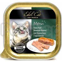 Edel Cat mit Kaninchen ( Эдель кэт паштет кролик Полнорационный корм для кошек)