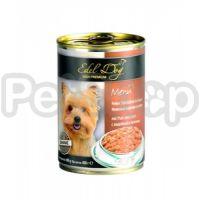 Edel Dog mit Pute und Leber (Эдель дог индейка/печень Полнорационный консервированный корм для собак всех пород)