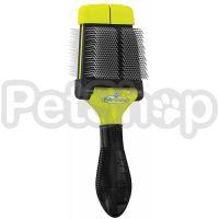 FURminator Small Soft Slicker Brush ( Фурминатор двухсторонняя щетка-сликер, для удаления подшерстка для мелких пород собак и грызунов)