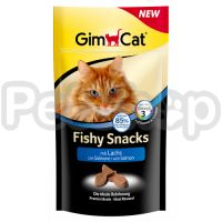 GimCat Fishy Snacks mit Lachs ( Вкусная закуска с лососем для кошек)