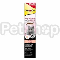 GimCat Anti-Hairball Duo Paste Chicken&Malt ( Паста джимпет– это здоровое лакомство для вашей кошки)