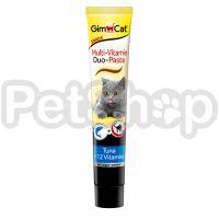 GimCat Multi-Vitamin Duo Paste Tuna&Vitamins ( Паста джимпет – это здоровое лакомство для вашей кошки)