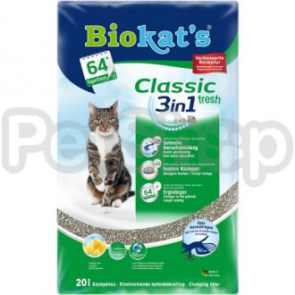 Gimpet Biokat's Fresh 3in1 ( Универсальный наполнитель с ароматом весенних трав)