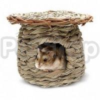 Hagen Living World Green - Seagrass Hut ( Домик плетеный из натуральных водорослей для грызунов)