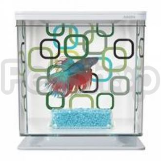 Hagen Marina Betta Kit Geo Bubbles - аквариум для петушка, 13352