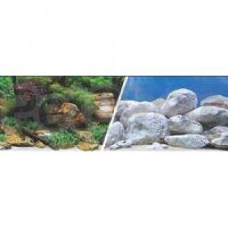 Hagen №11753 - фон для аквариума аквасад/светлые камни, высота 30 см