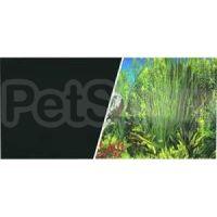 Hagen №11779 - фон для аквариума черный/зеленые растения, высота 45,7 см