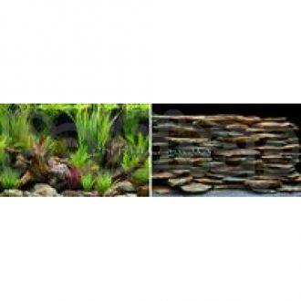 Hagen №11945 - фон для аквариума оазис/каменная стена, высота 45,7 см