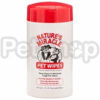 Nature's Miracle Pet Bath Wipes ( Влажные очищающие салфетки)