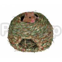 Trixie Grass Nest ( Гнездо для грызунов плетеное из 100% натуральных материалов)