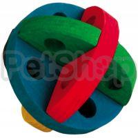 Trixie Игрушка-кормушка ( Деревянная игрушка для грызунов со специальными отверстиями, в которые можно помещать корм)