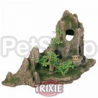 Trixie Скала с пещерой и растениями - декорация для аквариума, 8854