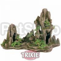 Trixie Скала с пещерой и растениями - декорация для аквариума, 8855