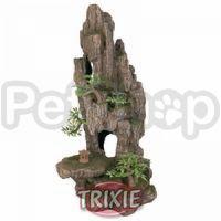 Trixie Скала с пещерой и растениями - декорация для аквариума, 8858