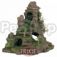 Trixie Скала с пещерой и растениями - декорация для аквариума, 8859