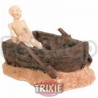 Trixie Скелет в лодке - декорация для аквариума, 8974