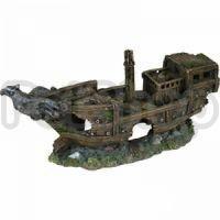 Trixie Разбитый корабль - декорация для аквариума, 8743