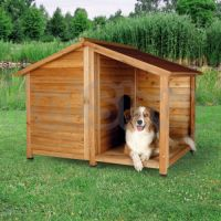 Trixie Dog Kennel with Terrace ( Будка для собак из лакированой сосны с террасой)