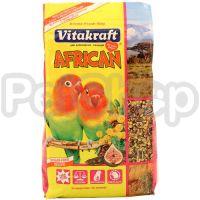 Vitakraft African ( Корм витакрафт африкан для мелких африканских попугаев (неразлучников, сенегальских, зеленоголовых попугаев)