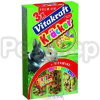 Vitakraft Kracker ( Крекер витакрафт с овощами и попкорном для кроликов - вкусное и полезное дополнение к основному рациону питомца)